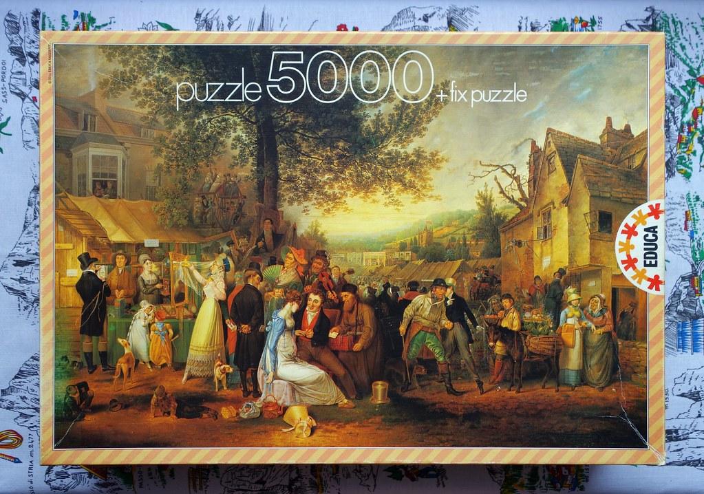 5000 piece puzzle 39 saint james fair 39 by samuel colman 1. Black Bedroom Furniture Sets. Home Design Ideas
