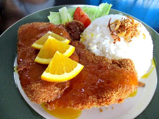 Le Cafe orange pork rice 2