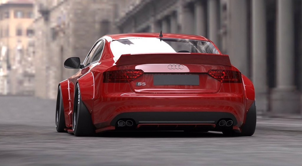 liberty walk audi s5 a5 super wide body kit renderings. Black Bedroom Furniture Sets. Home Design Ideas