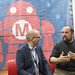 Massimo Banzi talking to the press about the big announcement, Arduino will be one again, made at World Maker Faire 2016