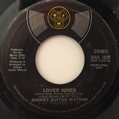 JOHNNY GUITAR WATSON:LOVER JONES(LABEL SIDE-A)