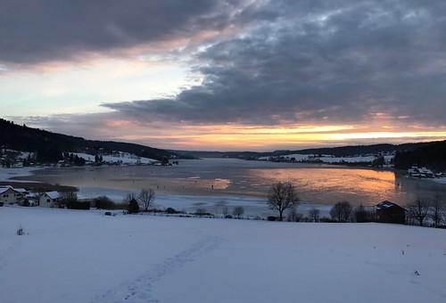 Lac de Malbuisson gelé - Franche Comté
