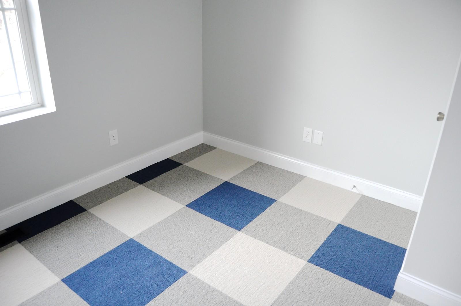 Buffalo plaid floor using carpet tiles go haus go a diy and buffalo plaid carpet tile floor dailygadgetfo Images