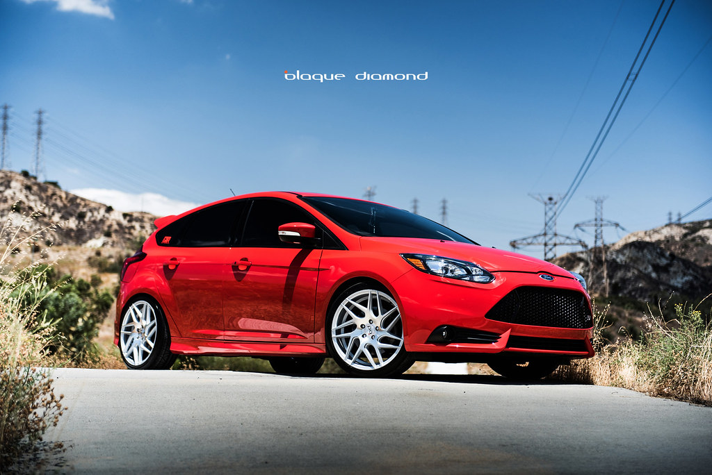 Focus St 19 Inch Wheels >> 2015 Ford Focus St Red Bd 3 19 Inch Staggered Silver Blaqu Flickr