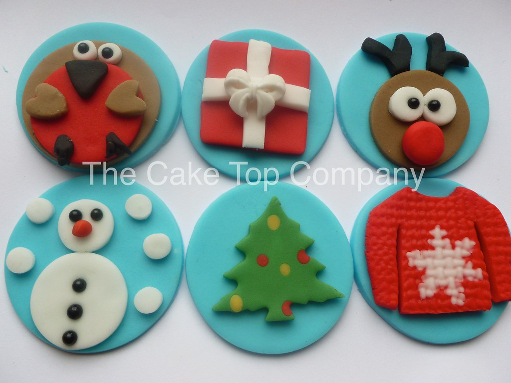 12 Fun Christmas Cupcake Toppers By The Cake Top Company Flickr