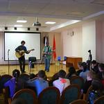Выступление в школе-центр Динамика. поэт Александр Меркушев