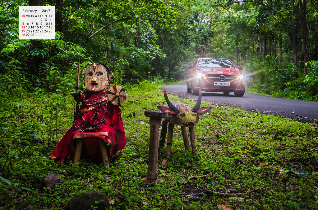 Red Mercedes and Jungle Goddess Rainforest
