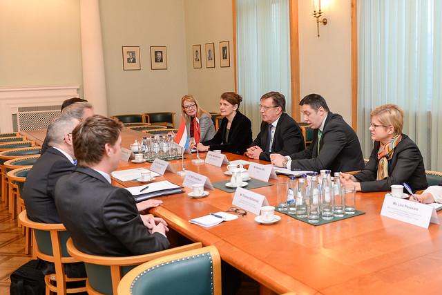 Ministru prezidents tiekas ar Luksemburgas ārlietu ministru Žanu Aselbornu (Jean Asselborn)