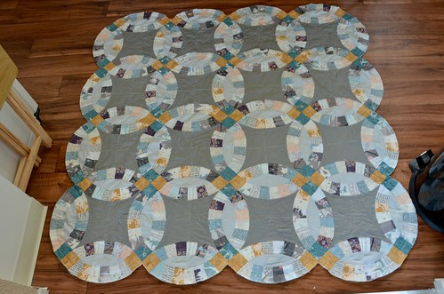 Trimmed top of quilt