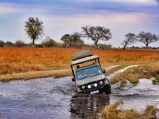 El todoterreno con el que hicimos nuestro safari móvil en Botswana
