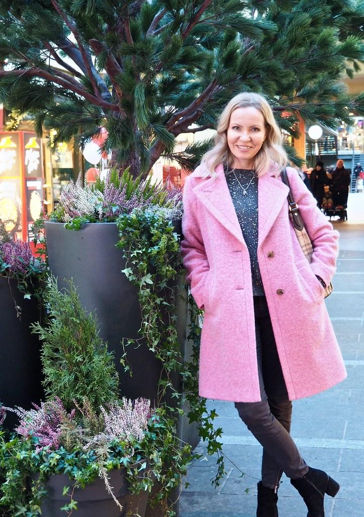 SAND pink coat