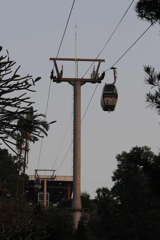 Cable car leading to the top of Guia Hill