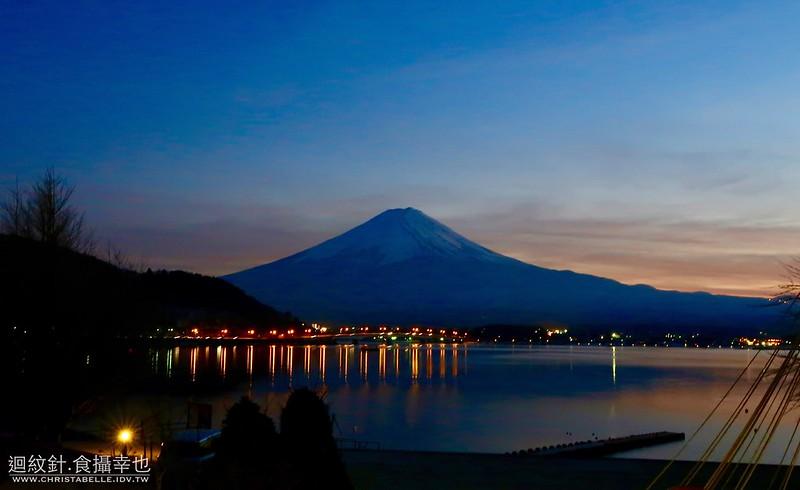 富士山河口湖冬季花火