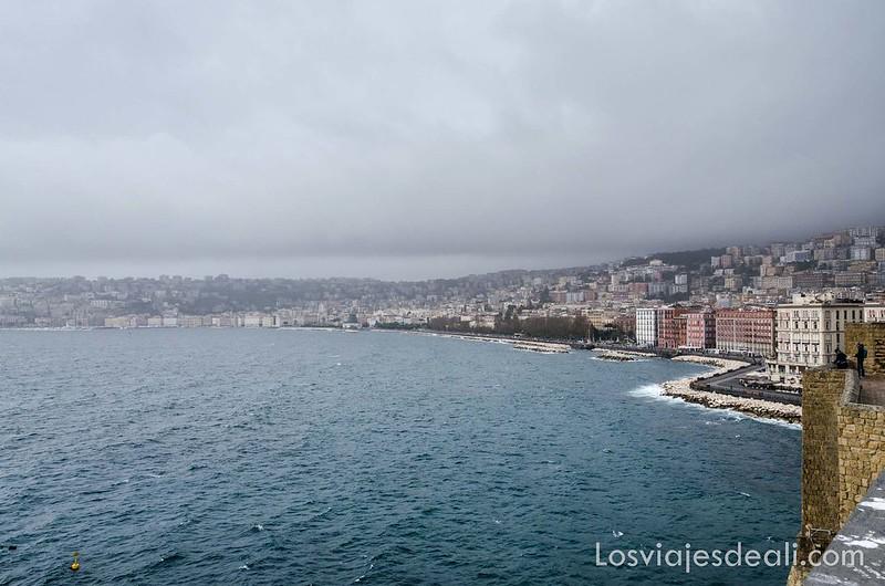 bahía de Nápoles desde el Castell dell'Ovo