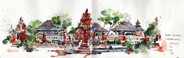 10. Pura Taman Sarawasti - Lotus Palace