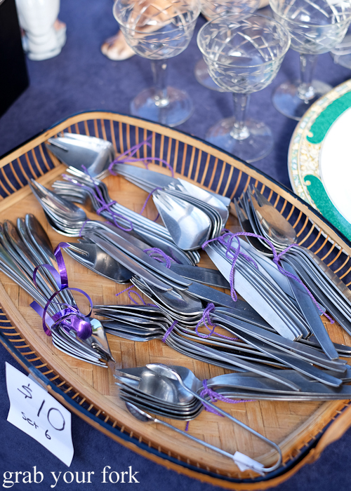 Vintage sporks at the Salamanca Market in Hobart