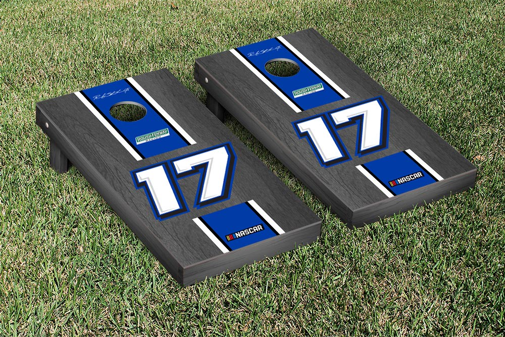 RICKY STENHOUSE JR #17 CORNHOLE GAME SET ONYX STAINED STRIPE VERSION (1)