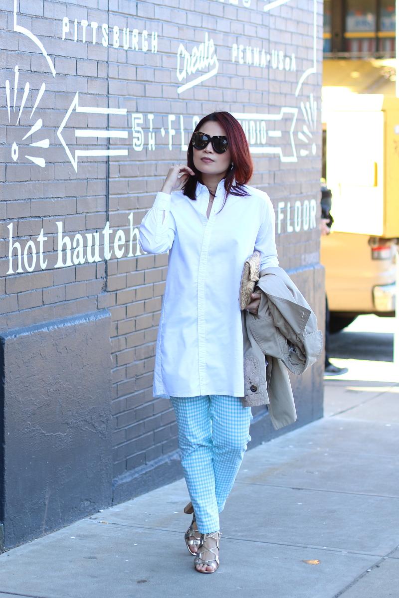 white-button-down-shirt-slimsation-check-pants-1