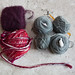Yarn of the Month yarn compared with Jimmy Beans Wool Beanie Bag yarn (November 2015)
