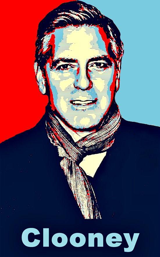 george clooney obama style poster pop art bob smerecki flickr