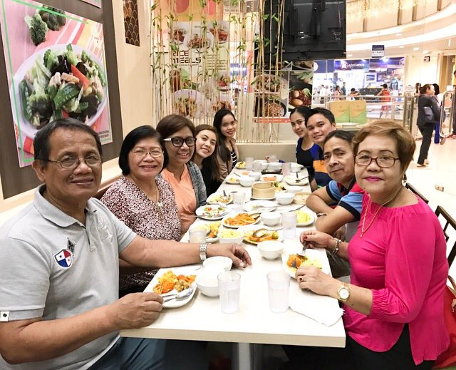 family dinner at Flavours of China