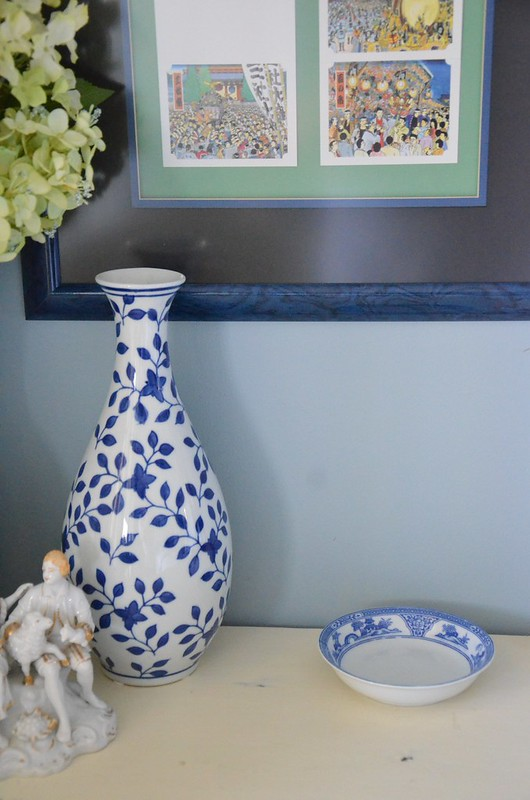 Guest Room side table accessories-Blue and White-Housepitality Designs