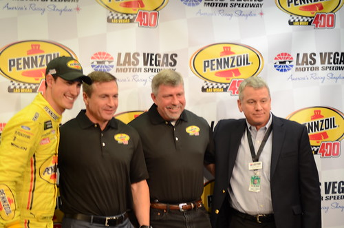 Joey Logano and Pennzoil Announcement