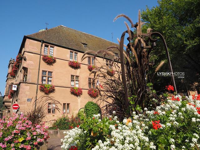 Idyllic scenery in Kaysersberg, Alsace