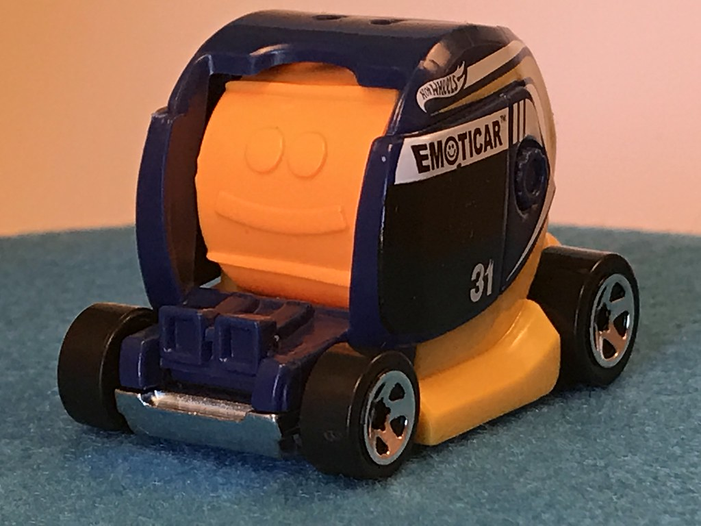 2017 Hot Wheels, Emoticar, 2017 Experimotors 5/10 - Dark Blue