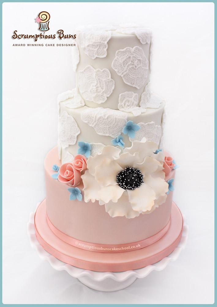 Lace Wedding Cake Madagascan Vanilla Chocolate Fudge Tie Flickr - Fudge Wedding Cake