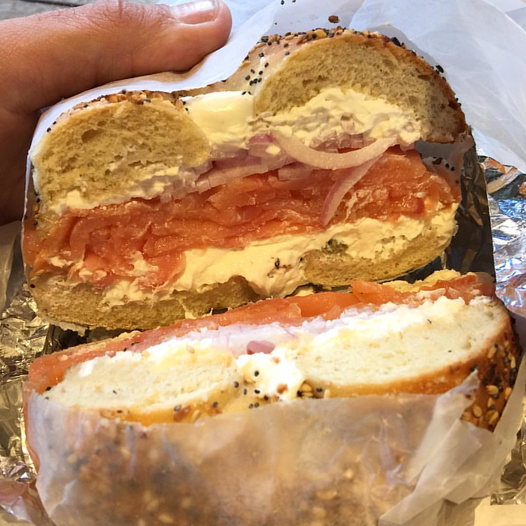 Ordered Two Bagels For Breakfast Almost Full After Half Of One