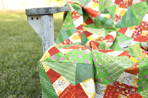 Firecrackers Quilt in Chair | by antstosugar