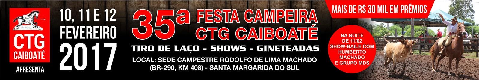 Anúncio 35ª Festa Campeira CTG Caiboaté