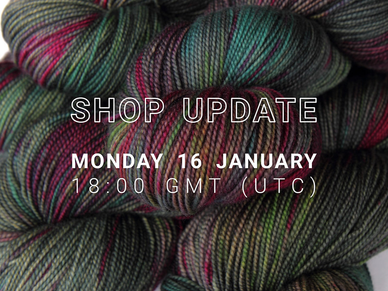 Shop update: Monday 16 January 2017 at 18:00 GMT (UTC)