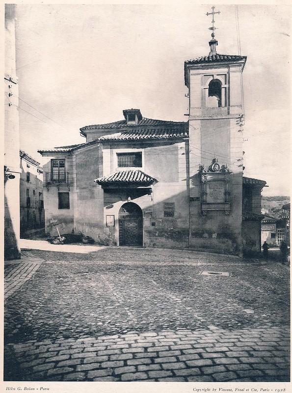 Iglesia del Salvador en Toledo. Del libro Petits Édifices, publicado en Paris en 1928 por los editores Vincent, Fréal et Cie.