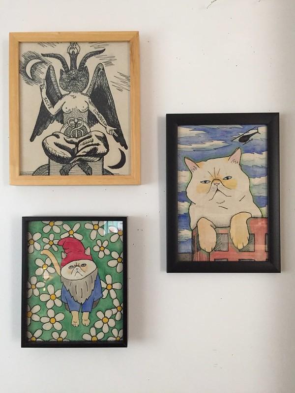 Bigger embroideries framed