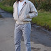 Casual weekend wear for over 40 men: Harrington jacket \ white t-shirt \ grey chinos \ white Converse | Silver Lononder, over 40 menswear blog