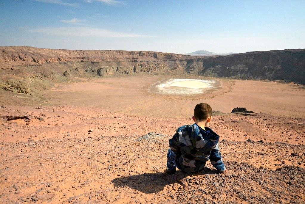 Saudi-Arabian nahtavyydet | Tulivuoren kraateri