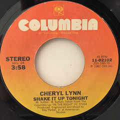 CHERYL LYNN:SHAKE IT UP TONIGHT(LABEL SIDE-A)