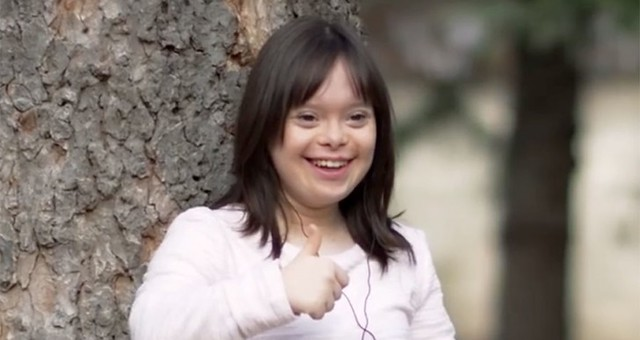 Presentadora del tiempo Síndrome de Down en Francia