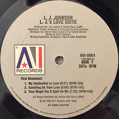 L.J. JOHNSON:L.J.'S LOVE SUITE(LABEL SIDE-A)
