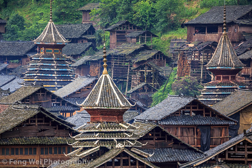 Huanggang Dong Village, Guizhou China | 贵州-从江-黄岗侗寨 A drum ...