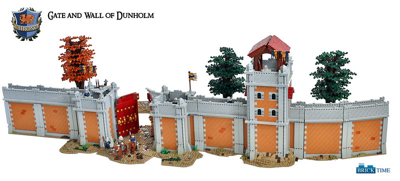 the town wall of dunholm lego historic themes eurobricks forums. Black Bedroom Furniture Sets. Home Design Ideas