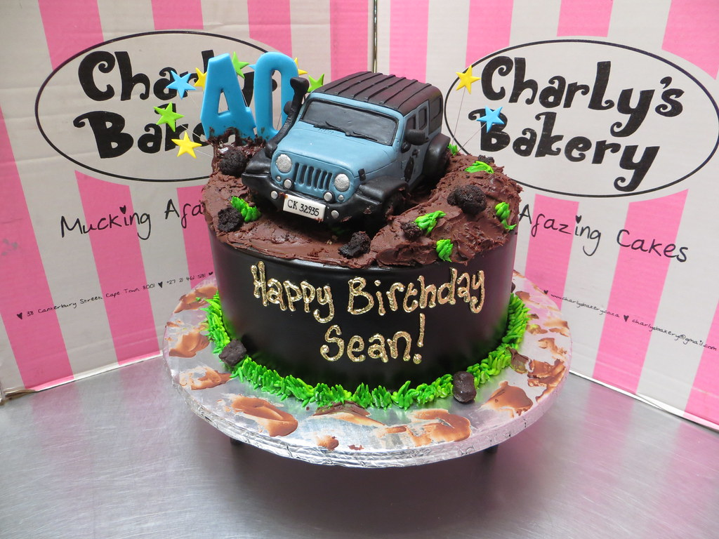 40th birthday cake with personalised 3D Jeep Wrangler 4x4 Flickr