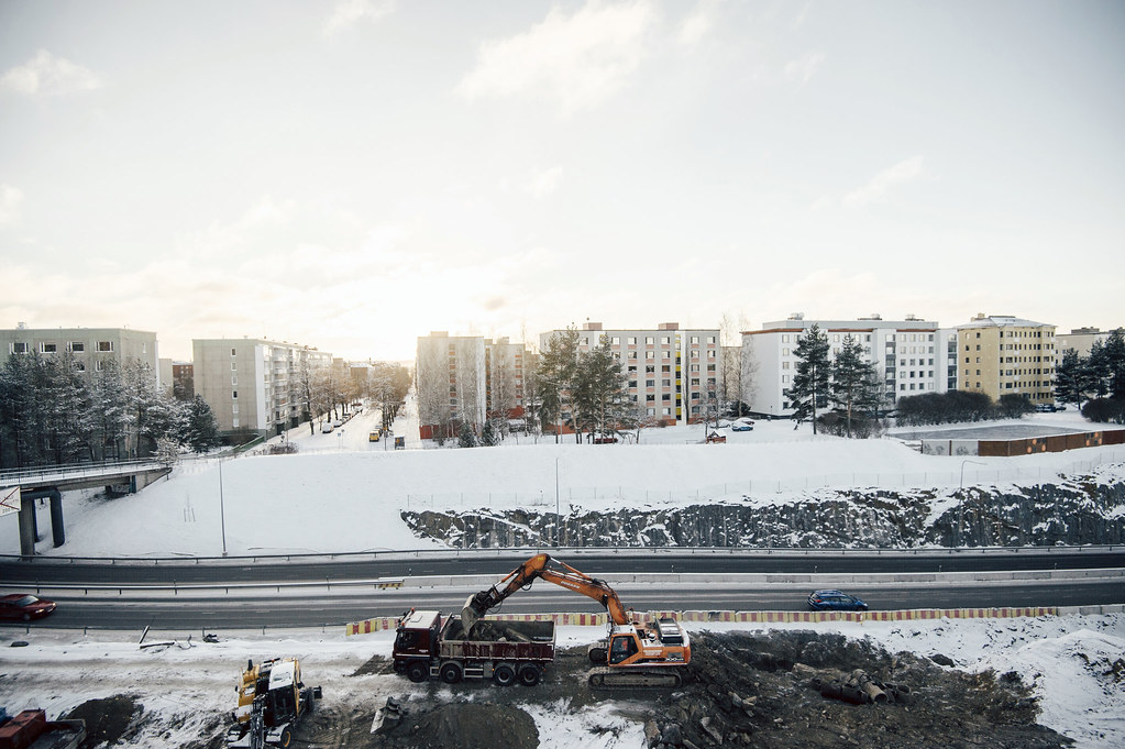 Roadwork. Photo: Antti Yrjönen