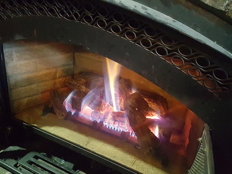apres ski fireplace