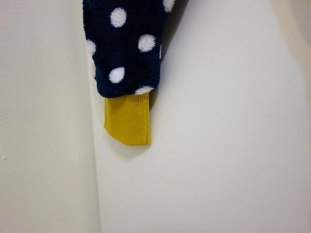 褲腳做了束口設計@寧選集可愛點點兒童防踢被連身褲