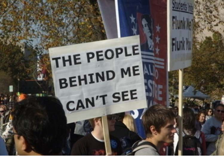 Witty & funny protest signs #22: You Can't See Me