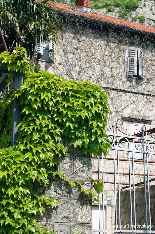 Фасад старого каменного дома