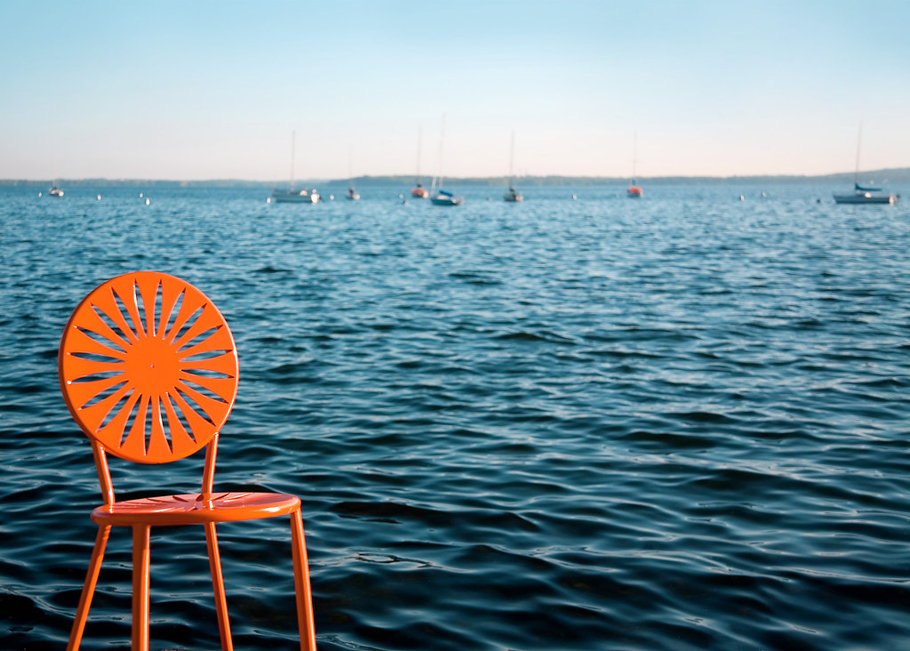 memorial union sunburst seat on lake mendota a trademark